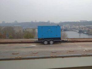 Оренда Дизельної Електростанції для будівництва мосту