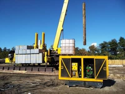 аренда дизельной электростанции для установки по вдавливанию свай на строительной площадке
