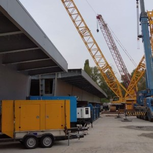 аренда дизель-генераторной електростанции для Подольско-Воскресенского моста