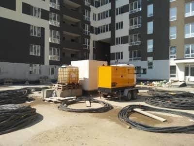 аренда дизель-генераторной электростанции для строительства жилого массива
