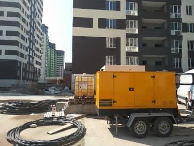 аренда дизель-генераторной электростанции для строительства многоэтажек
