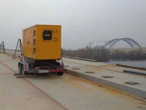 дизельна електростанція в оренду для будівництва мосту
