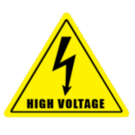 знак обережно high voltage