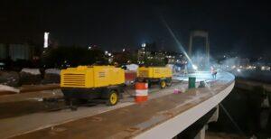аренда компрессора для строительства Подольско-Воскресенского моста